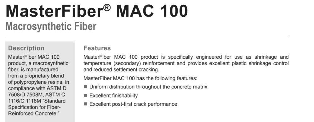 MasterFiber MAC 100